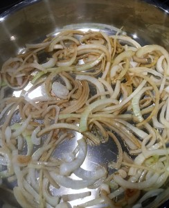 Sauteed onions soften and caramelize quickly over heat.